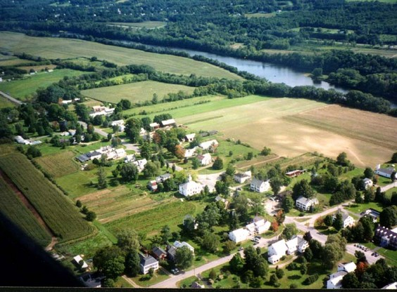 Aerial view of Westminster, Vermont