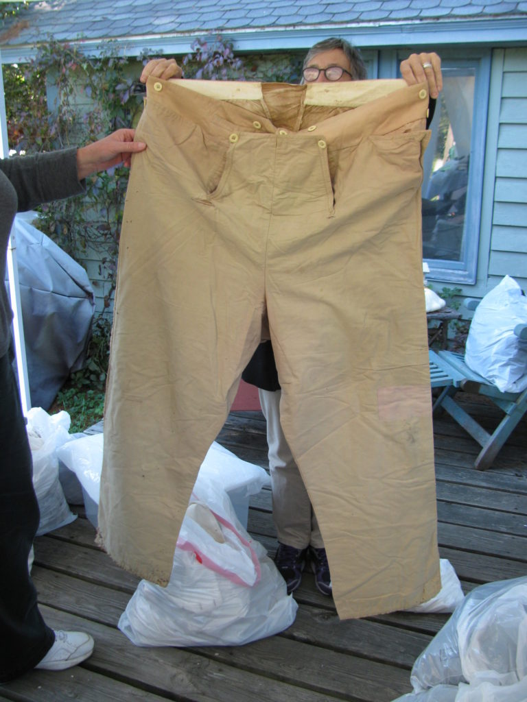 William C. Bradley high-waisted pants fresh from trunk storage