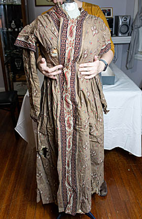 Brown Wrapping Gown